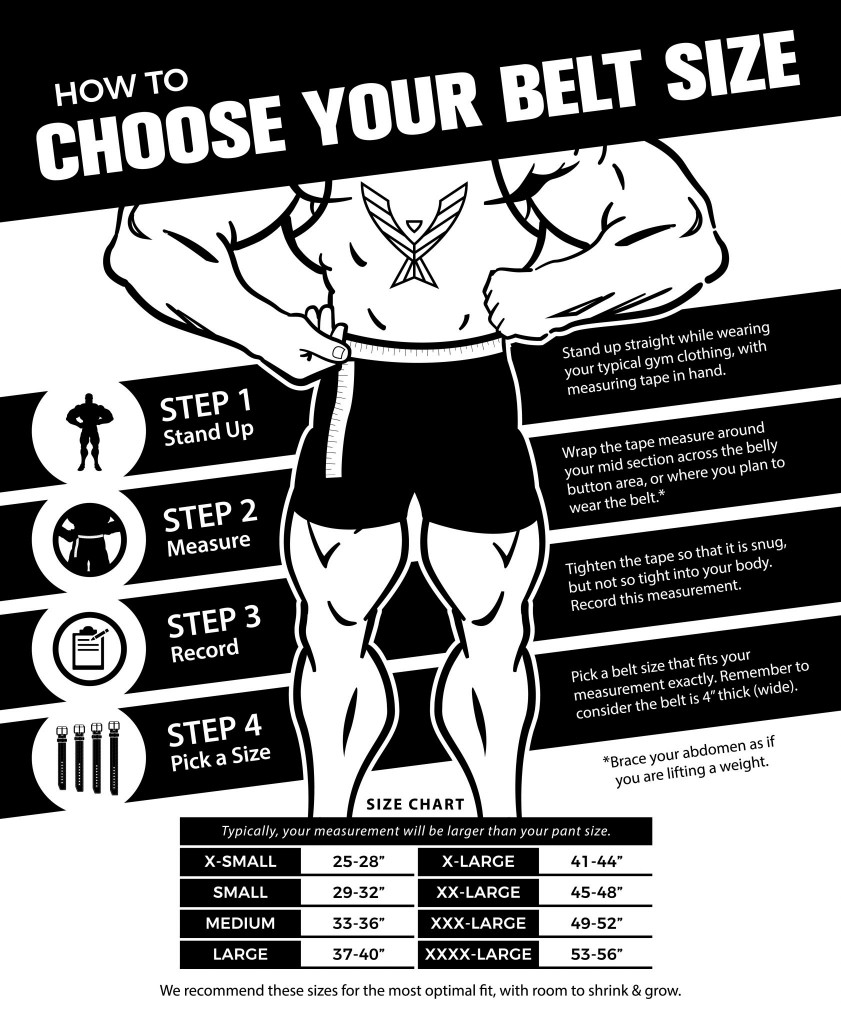 Stoic Powerlifting Belt Size Guide
